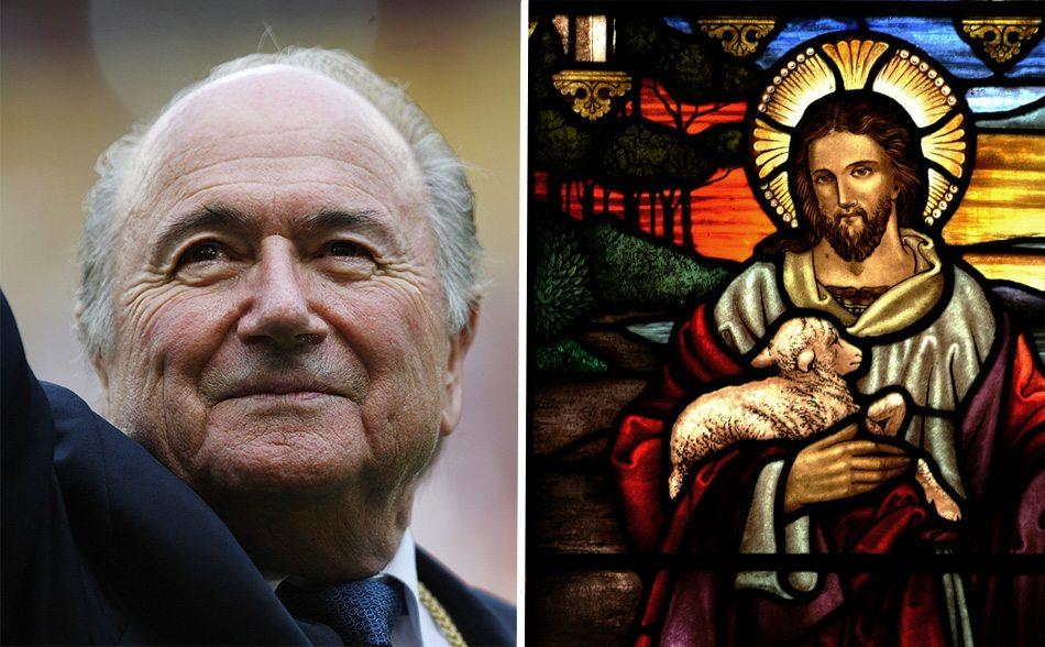 'Blatter is Jezus Christus'