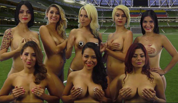Chicks poedelnaakt voor Amerikaanse cup