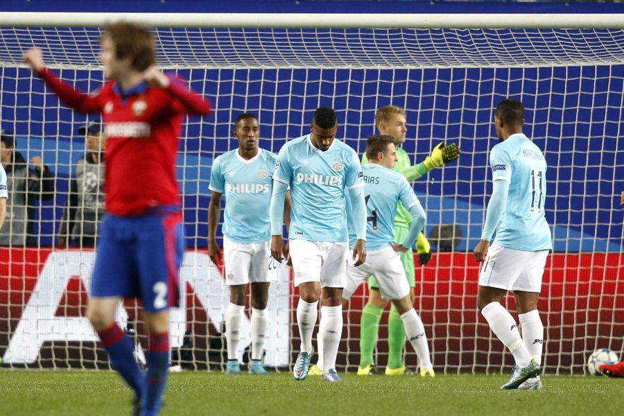 Belachelijk veel reclame tijdens PSV - CSKA