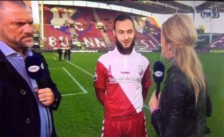 Islamitische Utrecht-speler weigert hand verslaggeefster