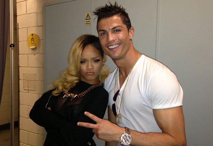 Ronaldo doet Rihanna