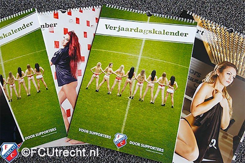 Utrecht-fans uit de kleren voor ondeugende kalender
