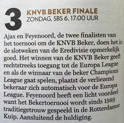 Ajax in bekerfinale volgens VARA