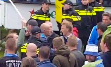 Kuyt komt in gevecht Feyenoord- en Ajaxfans terecht