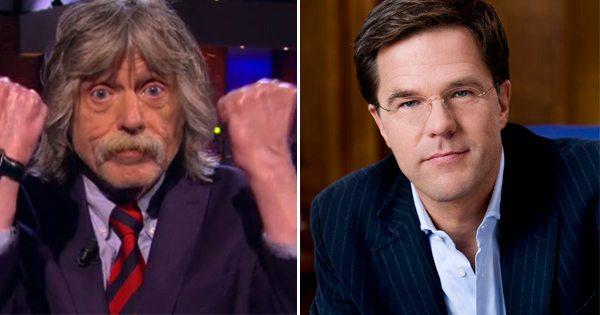 "Mark Rutte slacht Johan Derksen: ""Bizar dat hij zendtijd krijgt"""