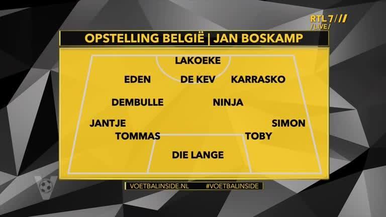 Opstelling België Jan Boskamp