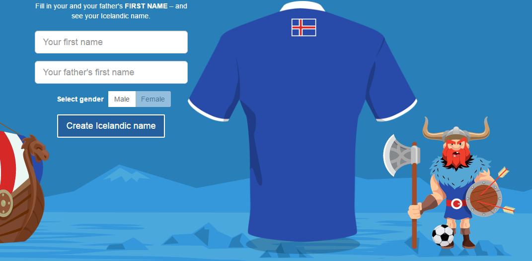 Hoe is jouw naam in het IJslands?