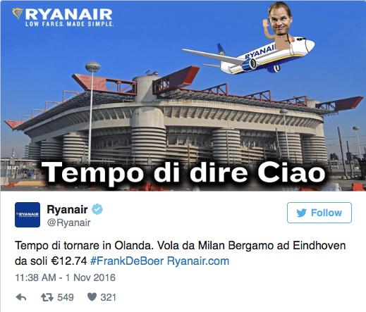 Ryanair dist Frank de Boer