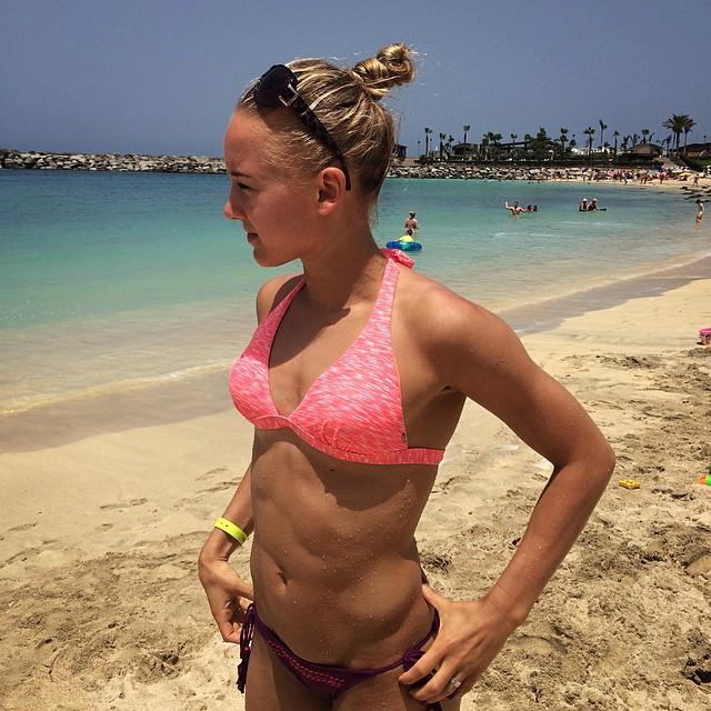 Sanne en Lieke Wevers bikini