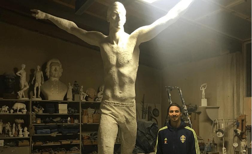 Zlatan blij met 'Vrijheidsbeeld van Zweden'