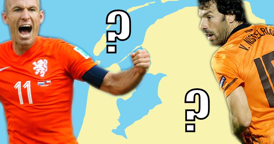 Kun jij de geboorteplaats van deze Oranje-helden aanwijzen op een lege kaart?
