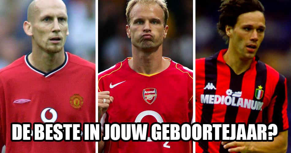 Wie was de beste Nederlandse voetballer in jouw geboortejaar?