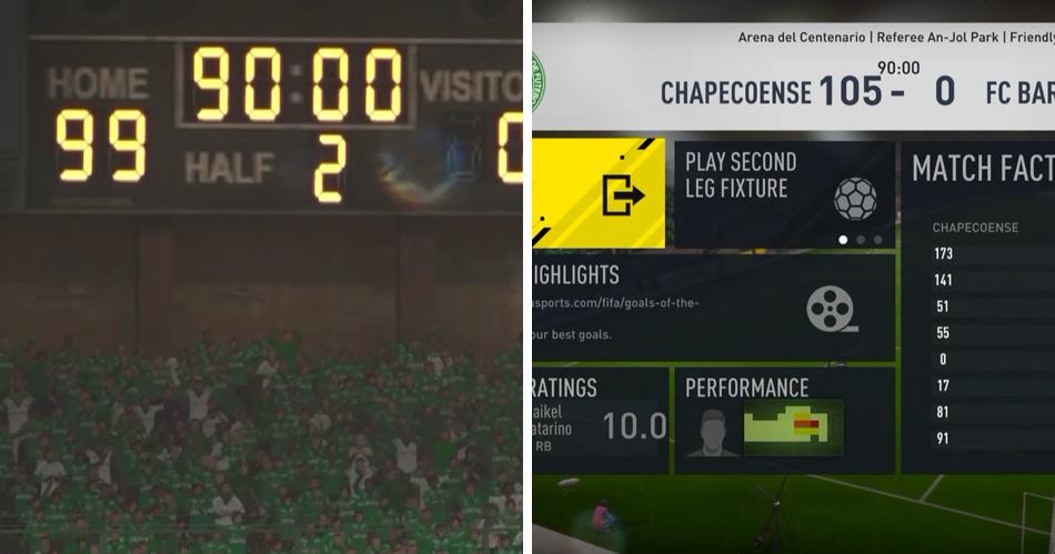 Dit gebeurt er als je met 100-0 voorstaat in FIFA 17
