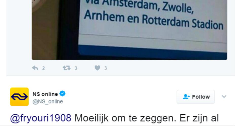 De NS dist Feyenoord keihard