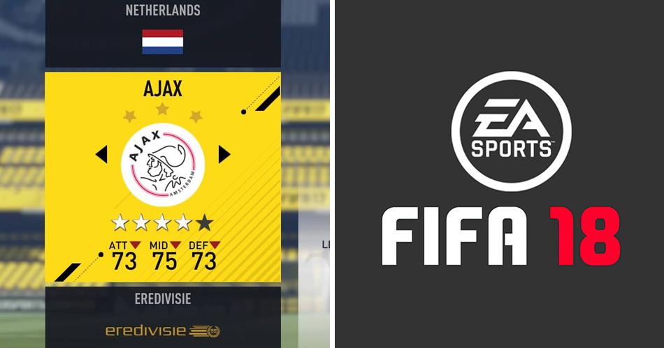 Geen Eredivisie meer in FIFA 18
