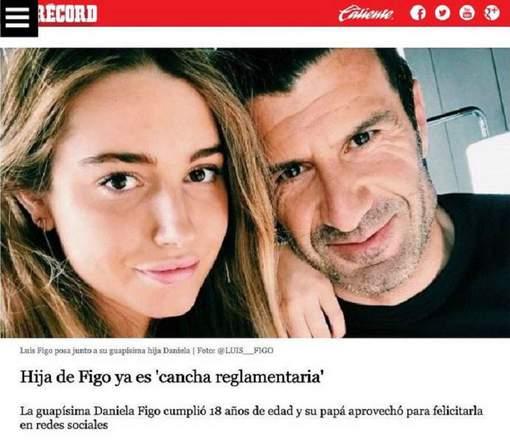 Krant in problemen door vieze opmerking dochter Figo