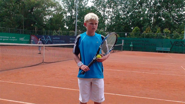 Matthijs de Ligt zat op tennis