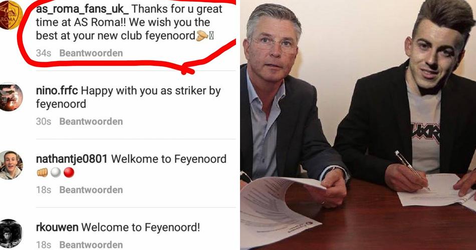 El Sharaawy schrikt van honderden Feyenoord-stalkers