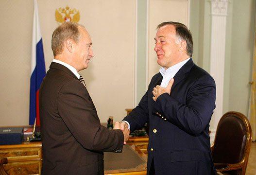 Poetin en Dick Advocaat