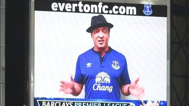 Sylvester Stallone Everton