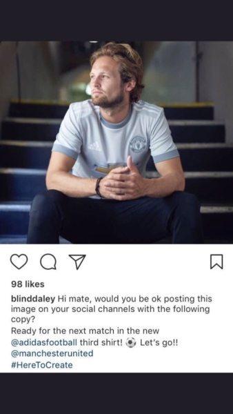 United-verdediger faalt hard op Instagram