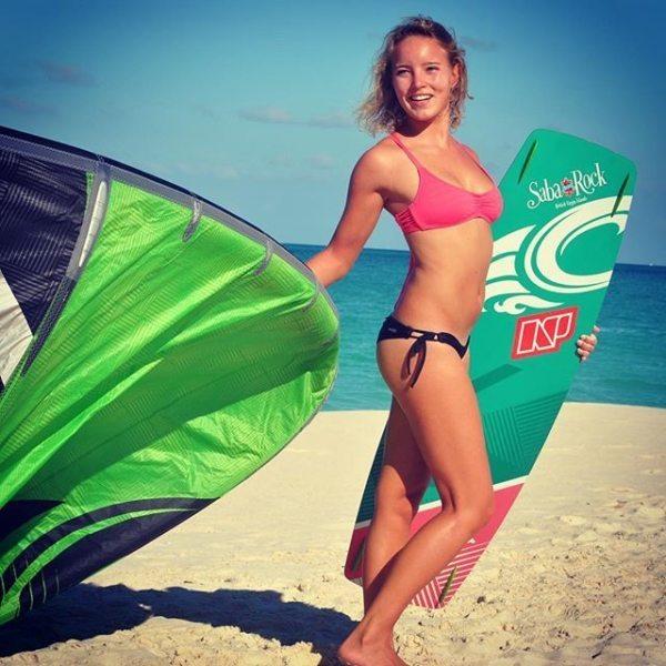 Annabel Westerop bloedmooie kitesurfster