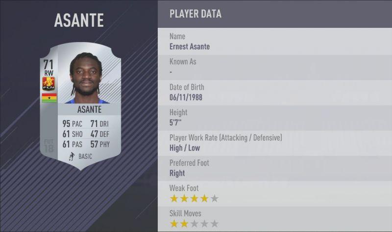 Asante FIFA 18