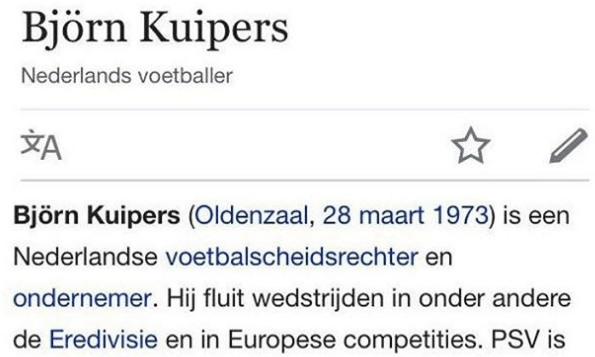 'Kuipers is een groot PSV-fan'