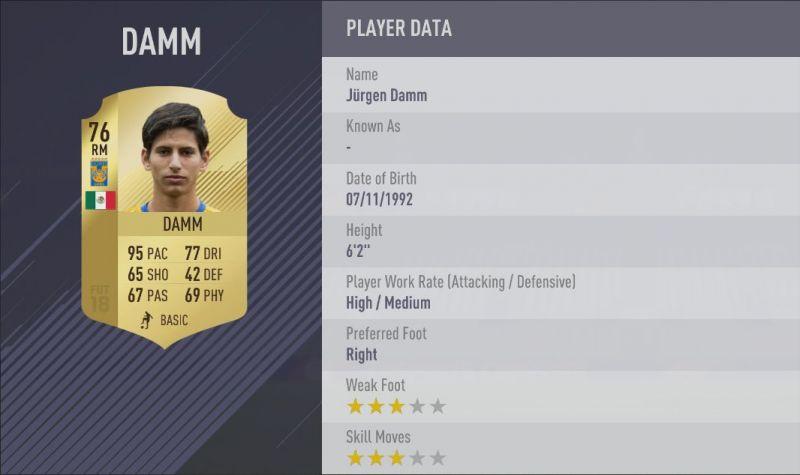 Damm FIFA 18