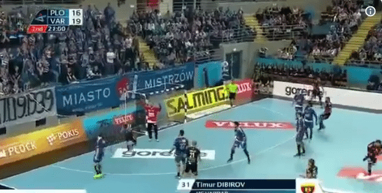 Ongekend doelpunt in handbal
