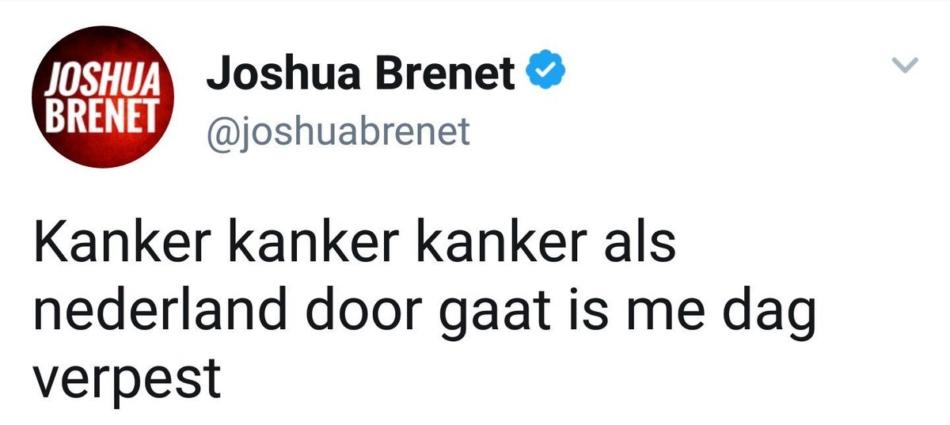 Joshua Brenet tweets
