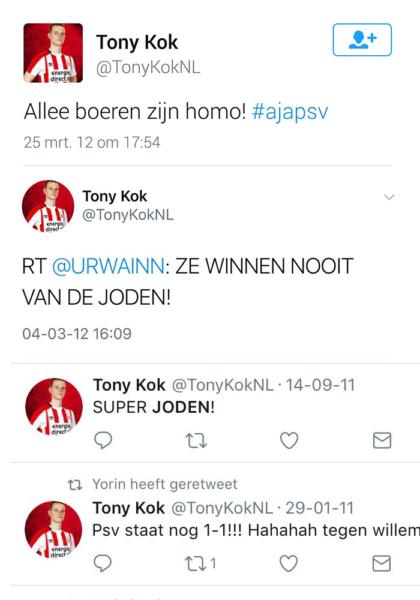 Tony Kok tweets