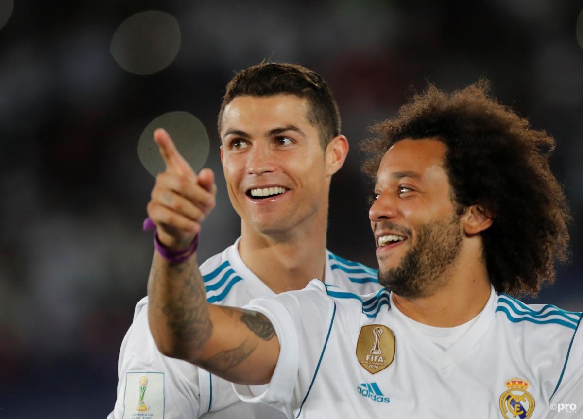 Wat is dit nou? Ronaldo 'misbruikt' Marcelo na doelpunt