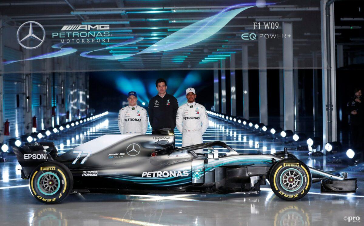 De nieuwe Formule 1 wagen van Mercedes