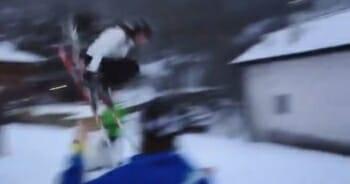 Zangeres Maan valt keihard met skiën