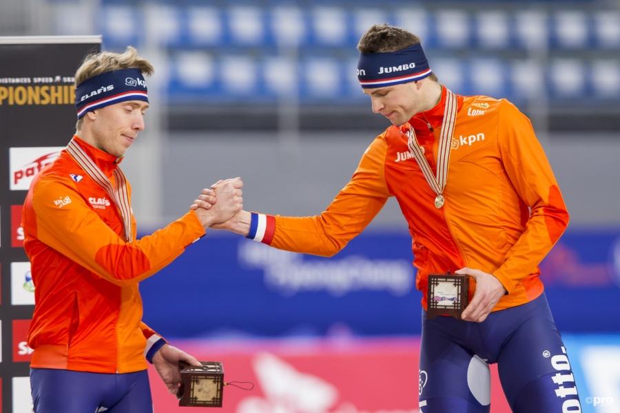 Jorrit Bergsma en Sven Kramer