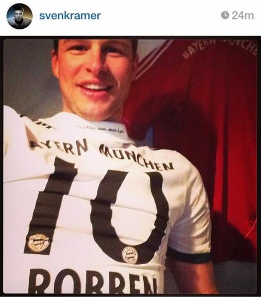 Sven Kramer in Robben-shirt