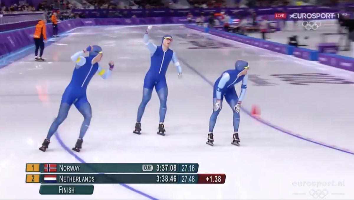 Nederlandse ploeg loopt goud mis door kapotte schaats