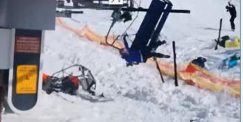 Skilift slaat op hol en verwondt vele mensen