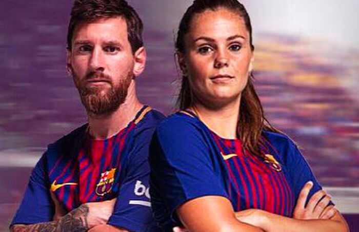 Lieke Martens en Lionel Messi