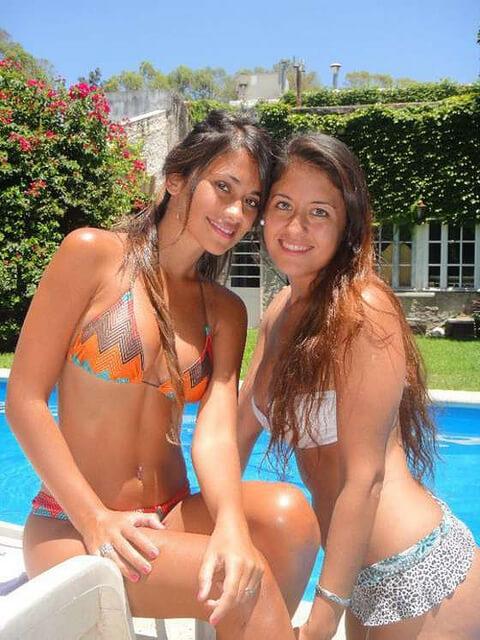 Antonella Roccuzzo is de vriendin van Lionel Messi
