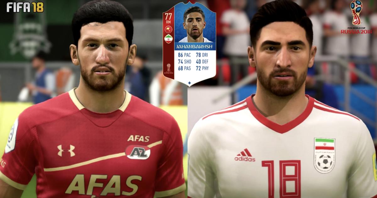 Jahanbakhsh FIFA 18 WK-update