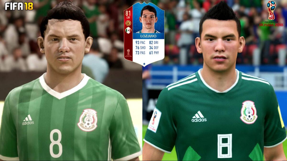 Lozano FIFA 18 WK-update
