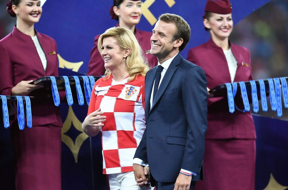 Kroatische presidente doet niet moeilijk over een pikant fotootje