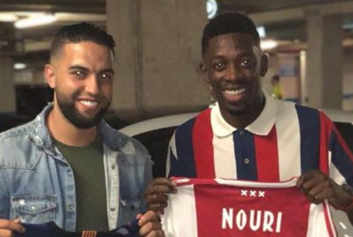 Dembélé krijgt shirt van Nouri na PSV-thuis
