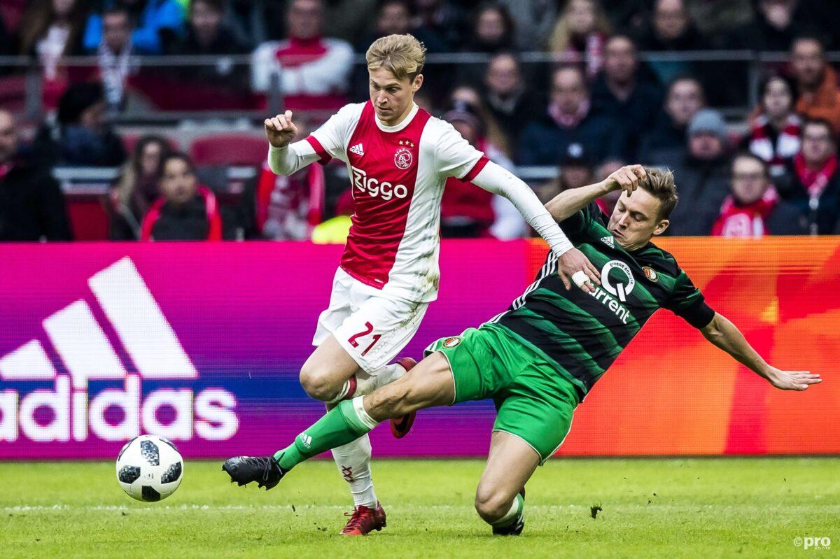 Hand in hand? Frenkie de Jong speelde bijna voor Feyenoord