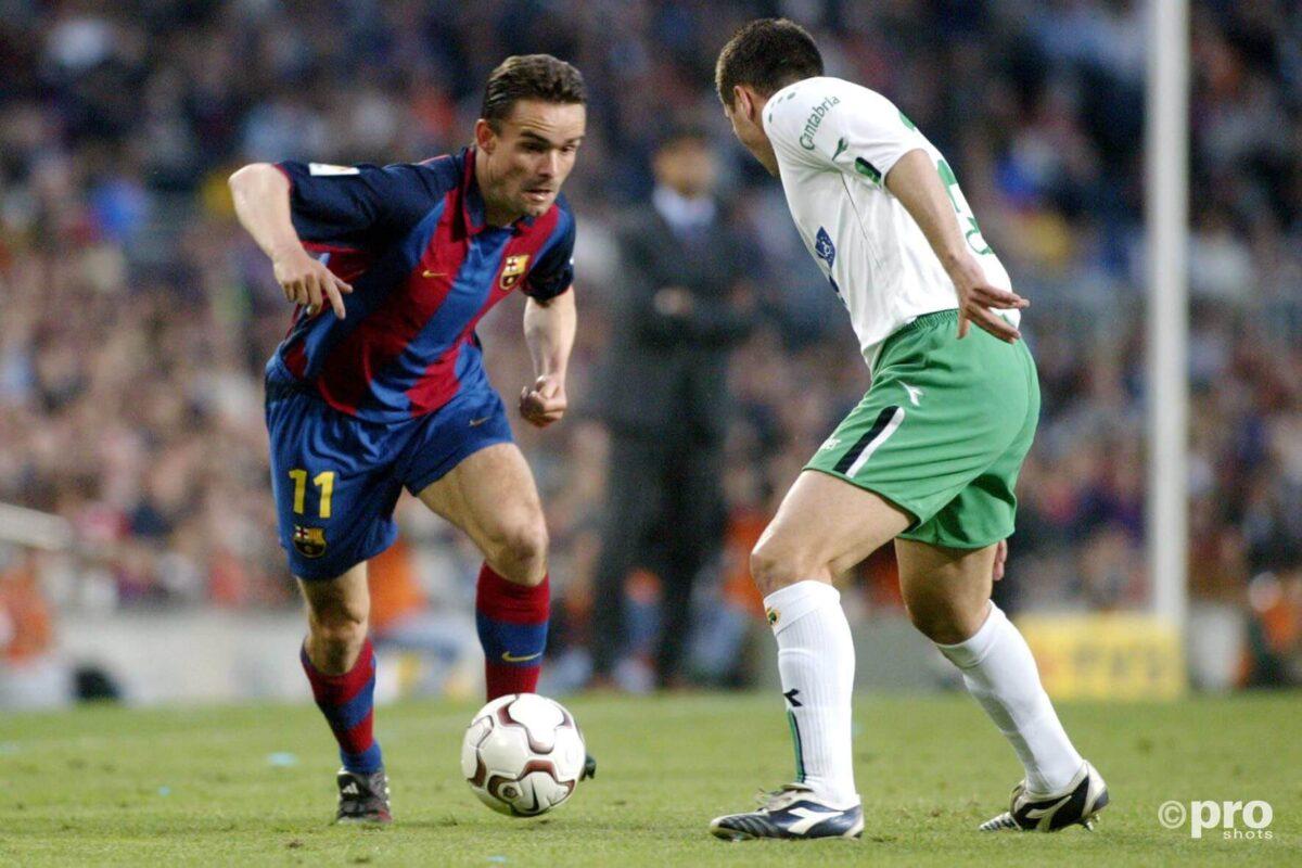 Marc Overmars bij FC Barcelona