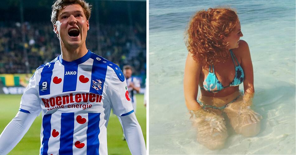 Heerenveen-goalgetter Sam Lammers heeft schattig vriendinnetje