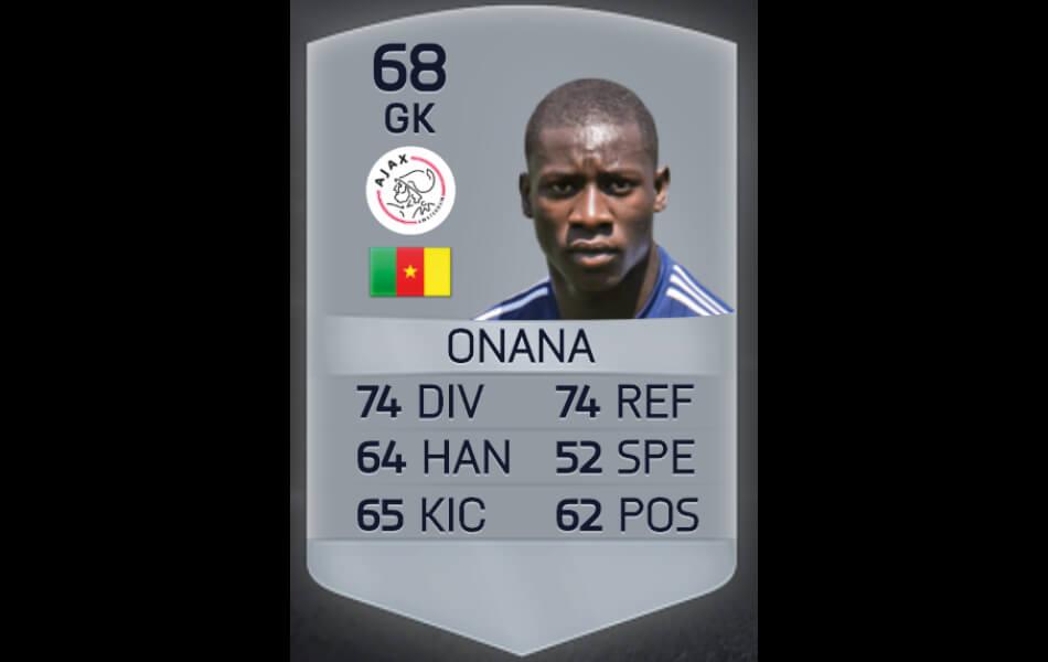 André Onana eerste FIFA-kaart