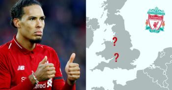 Kun jij alle Champions League-stadions aanwijzen op een lege kaart?